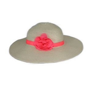 Gymboree Sunhat with Bright Pink/Coral Bow